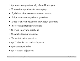 Competency Based Interviews Key Questions