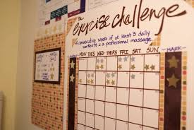 Workout Progress Charts The Exercise Challenge The Thinking Closet