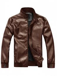 outfit mens faux leather motorcycle jacket brown m