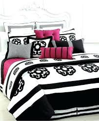 pink black and white comforter sets bedding sweetest slumber minimalist interior queen set