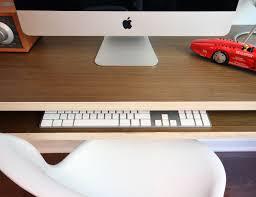 minimal float wall desk by orange  multi use workstation or