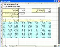 5 Year Amortization Schedule Excel Amortization Schedule 5 Templates Amortization Schedule