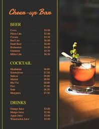 Design A Menu Free Beverage Bar Menu Maker Online Customized Menu Design For