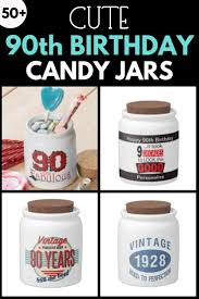 90th birthday candy jars