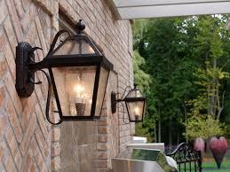 mesmerizing outdoor lantern light fixture outside the house ith light brick lights on
