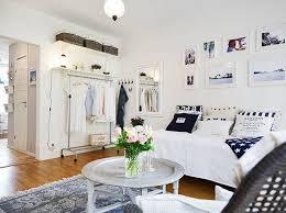 Amazing White Cool Studio Apartment Design