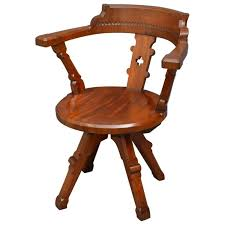 victorian office chair. Victorian Mahogany Office Chair For Sale