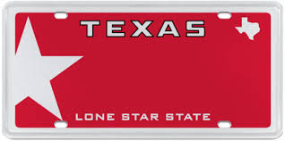 Lone Star Red (Gridiron Heroes) Official Texas License Plates ...