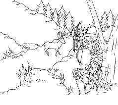 Small Picture Hunting Deer with Camouflage Coloring Pages Coloring Sky
