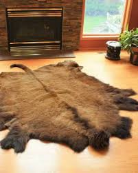 Buffalo and Reindeer Hide Rugs
