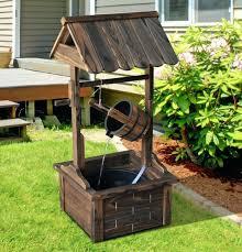 wooden wishing well wishing well outdoor water fountain wooden electric pump backyard garden decor wooden wedding