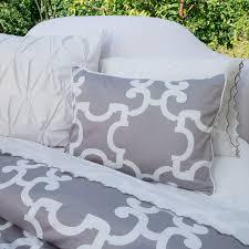 grey quatrefoil bedding designs