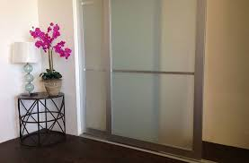 sliding glass closet doors rail