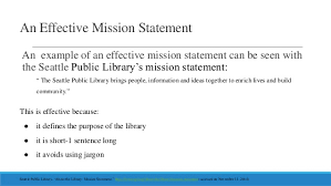 Mission Statement Example Creating A Library Mission Statement