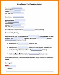 Employee Verification Letter Template Filename Istudyathes
