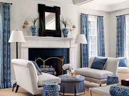 Blue And White Living Room Decorating Ideas For good Beautiful .