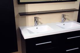 inch floating bath cabinet double sink with side cabinet