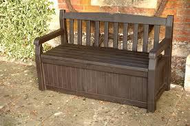outdoor furniture storage bench. garden bench + under storage keter 140cm resin patio furniture 265l lockable: amazon.co.uk: garden \u0026 outdoors outdoor furniture storage bench