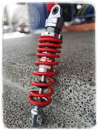 racing boy single shock c series for all yamaha mio 295mm anium red