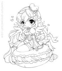 Small Picture YamPuff Food Chibi Girls Coloring Pages crafts Pinterest