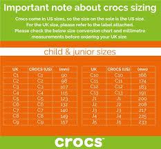 Crocs Kid Shoe Size Chart Kids