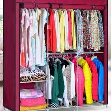 63 steel portable wardrobe home clothes rack shelves closet storage