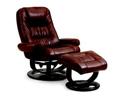 Andre Leather Vinyl Recliner and Ottoman