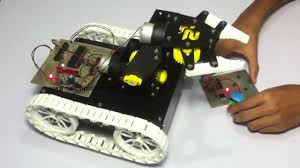 remote controlled pick and place robotic arm vehicle
