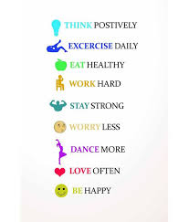 Healthy Living Quotes Impressive Painting Mantra Healthy Living Quotes Poster Buy Painting Mantra