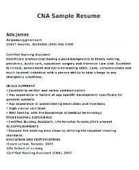 Example Cna Resume Delectable Cna Resume No Experience Resume Sample For Resume Summary Sample Of