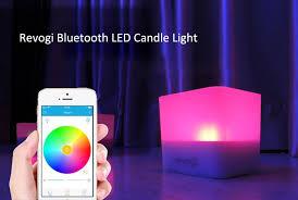 revogi battery operated wireless app led candle mood light
