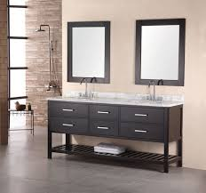 Bathroom double sink cabinets Cheap 72 Inch Modern White Marble Double Sink Bathroom Vanity In Espresso Unique Vanities 72 Inch Modern White Marble Double Sink Bathroom Vanity In