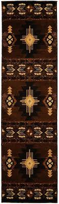get ations a rugs 4 less collection southwest native runner area rug design chocolate brown indian indian area rugs american design