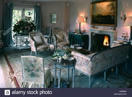 living room antique furniture. Large Oil Painting Above Fireplace In Traditional Living Room With Antique Furniture I