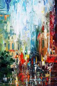 art gallery painting new york morning palette knife oil painting on canvas by leonid