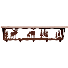 Moose Coat Rack Moose Family Coat Rack with Shelf 100 Inch 21