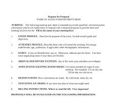 Event Planning Proposal Rfp Document Template Template Event Planning Proposal