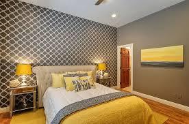 gray yellow bedroom designs