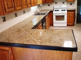 quartz tile countertop kitchen