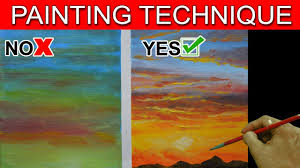 do s and don t on painting sunset basic easy step by step acrylic painting tutorial by jm lisondra