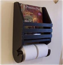 Toilet Paper Holder With Magazine Rack Primitive Magazine Rack Toilet Paper Holder Farmhouse Storage by 10