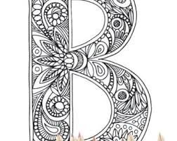 Coloring Letter B Etsy