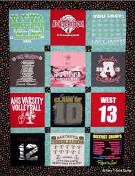 Order Graduation T-Shirt Quilts Now | Katy T-Shirt Quilts & Sashed T-Shirt Quilt with Accent Cornerstones Adamdwight.com