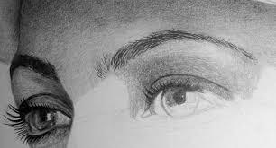 eyebrow shading drawing. shade the eyelid and draw eyelashes with mechanical pencil eyebrow shading drawing h
