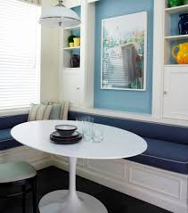 White Breakfast Nook Oval Breakfast Nook Table Gallery Including Furniture Retro Design