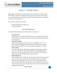 tele sales training call centre training manual