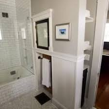 transitional bathroom ideas. Transitional Bathroom With Tile Floors And Walls Storage Niches Transitional Bathroom Ideas