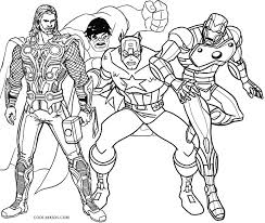 Small Picture free printable marvel superhero coloring pages thor iron man