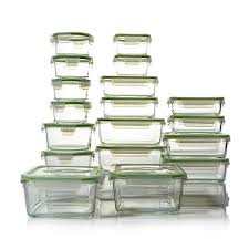 Glass Food Storage Containers With Locking Lids Inspiration Kinetic Glassworks 32piece Glass Food Storage Set 32 HSN