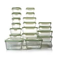 kinetic glassworks 36pc glass food storage set